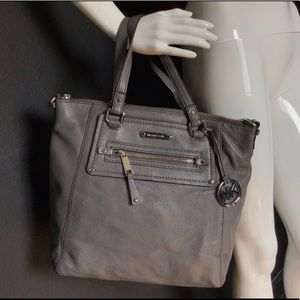 Michael Kors Slate Leather Tall Tote Bag